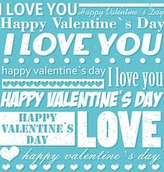 Valentines Day typographic background vector image