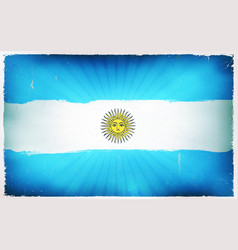 Vintage argentina flag poster background vector