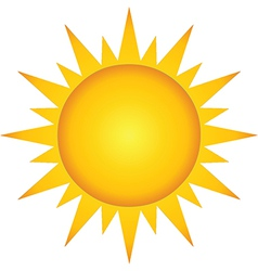 Summer hot sun vector