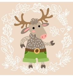 Cute deer vector