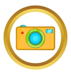 Yellow camera icon vector