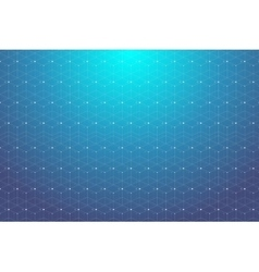 Blue geometric pattern with connected lines and vector