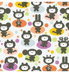 Cute animals seamless pattern vector