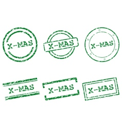 X-mas stamps vector image