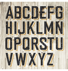 Alphabet on wooden vector