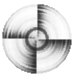 Abstract black and white dotted vector