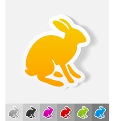 Realistic design element hare vector