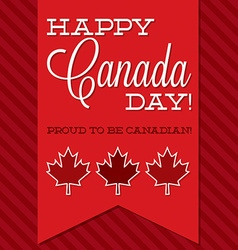 Canada day sash card in format vector
