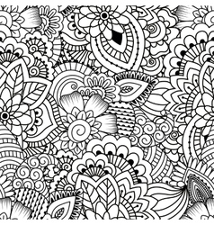 Seamless black and white pattern vector