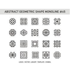 Abstract geometric shape monoline 65 vector