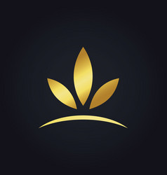 Abstract gold leaf nature logo vector