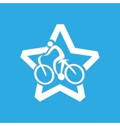 Athlete medal cyclist icon graphic vector