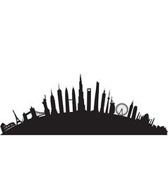 Black round cityscape vector