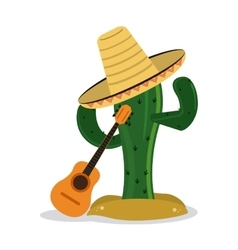 Cactus icon mexico culture graphic vector