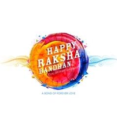 Decorative rakhi for raksha bandhan background vector