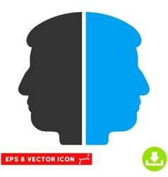 Dual face eps icon vector
