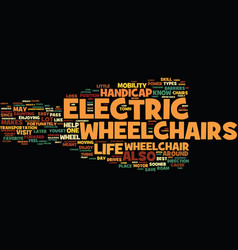 Electric wheelchair what about them and how to vector