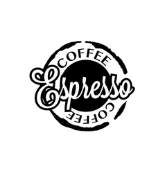 Espresso coffee stain badges black and White vector image vector image