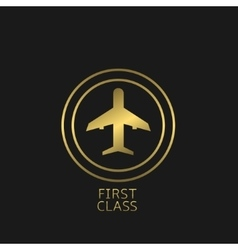 First Class label vector image
