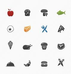 Food symbol icons vector image vector image