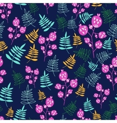 Forest design floral seamless pattern with vector