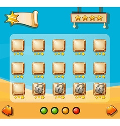 Game template with desert background vector