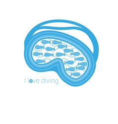 I love diving vector image