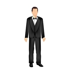 male suit or tuxedo icon image vector image