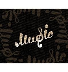 Music logo on black vector image vector image
