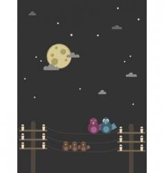 night birds vector image