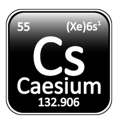 Periodic table element caesium icon vector