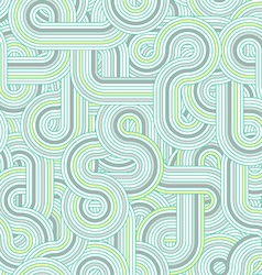 Round cable labyrinth pattern vector