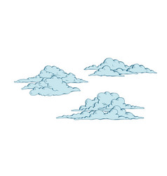 Set of cumulus clouds vector
