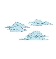 set of cumulus clouds vector image