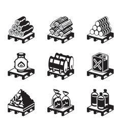 Solid fuel for domestic use vector image