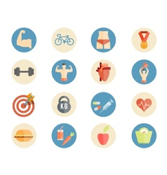 Sport and nutrition icons vector image vector image