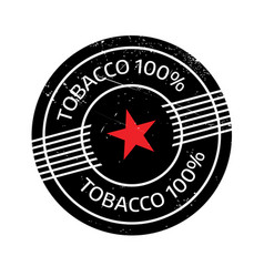 Tobacco 100 rubber stamp vector