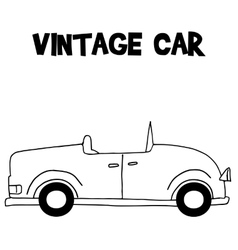 Transportation of vintage car vector