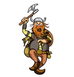 Viking in attack vector image