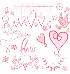Whimsical valentine vector
