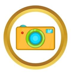 Yellow camera icon vector