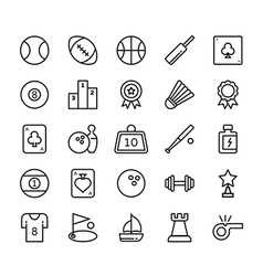 Sports colored icons 1 vector