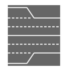 Asphalt road icon cartoon style vector