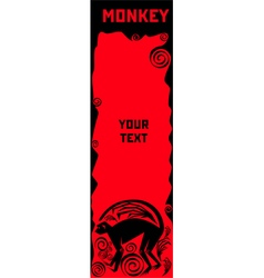 Monkey a symbol of chinese horoscope vector