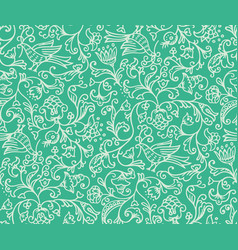 Seamless floral pattern background vector