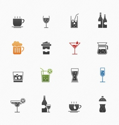 Beverage symbol icons vector