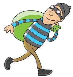Thief cartoon vector image