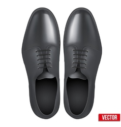 Male fashion classic black shoes vector