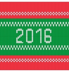 Christmas background 2016 style knitted ornament vector