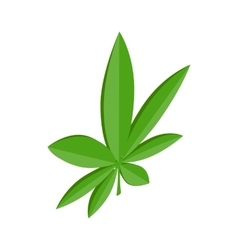 Marijuana leaf icon isometric 3d style vector